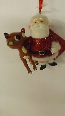 Dept 56 Rudolph and Santa Ornament 4033605 MWT