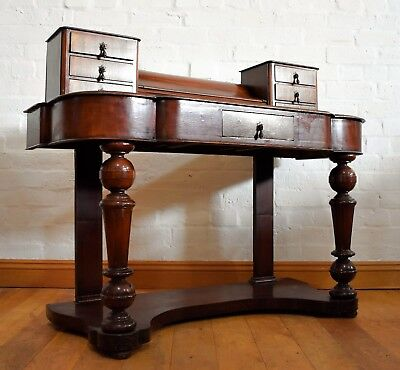 Antique Victorian mahogany Dutchess vanity dressing table / writing desk