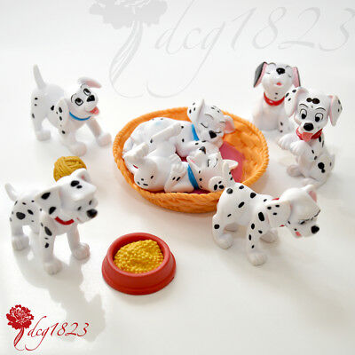 Disney Store Dalmatian Puppy Figures / Toppers With Accessories