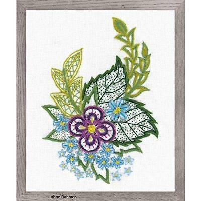 Embroidery Kit by Riolis 1688 Sketch with Cornflowers