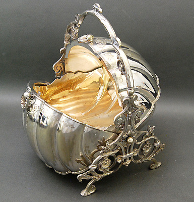 Gorgeous Rare Shape Victorian Silver Plate Biscuit / Muffin Warmer