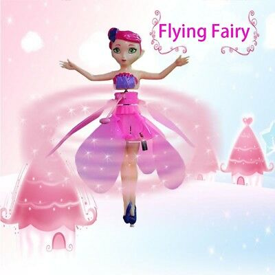 Flying Fairy Electric Induction Hover Pink Princess Toy Doll Amazing Gift 2018