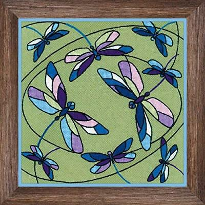 Embroidery Kit by Riolis 1655 Cushion/Panel Stained Glass Window. Dragonflies