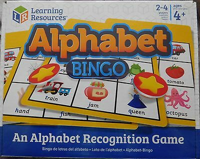 childrens ALPHABET BINGO   age 4yrs+ BNIB phonics game learning resource
