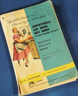 1957 Dundee And Carpentersville Il Phone Book Directory
