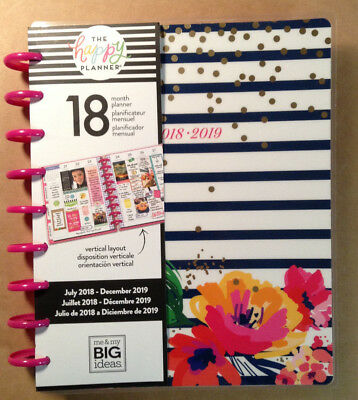 "NEW DESIGN! 2018-2019 Happy Planner CLASSIC ""GARDEN PARTY""  VERTICAL Layout"