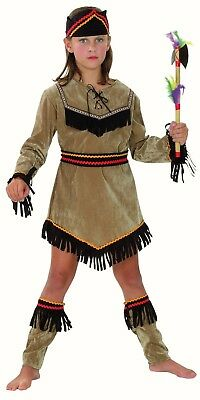 Indian Girl Native American Pocahontas fancy dress costume Leg Guards  Childs