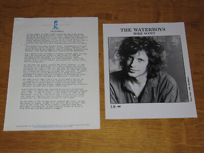 The Waterboys - 1986 Uk Promo Press Release With Promo Photo