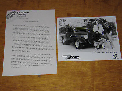 Zz Top - 1985 Uk Donington Promo Press Release With Promo Photo