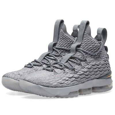 345300d3d478 NIKE LEBRON 15 XV City Pack Grey Gold 897648-005 Size 15 LIMITED 100 ...