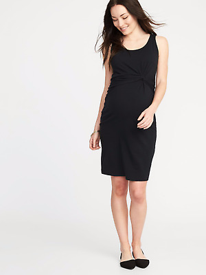 52586a76fab OLD NAVY TWIST Front Bodycon Black Maternity Dress-XL-NWT -  12.99 ...