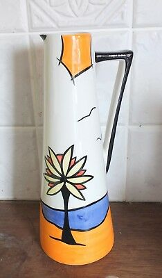 Lorna Bailey Vintage Thin Jug In The Beach Design In Mint Condition.