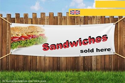 Sandwiches Sold Here Food Quick On the Go Heavy Duty PVC Banner Sign 3265