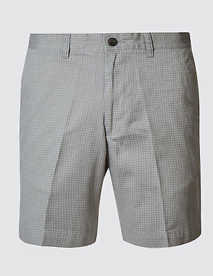 Mens Ex m&s Pure Cotton Printed Regular Shorts Size 30 to 44 Marks & Spencer