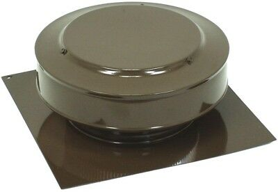 Home Building Round Top Attic Roof Vent 13x5-Inch Aluminum Brown Powder-Coated