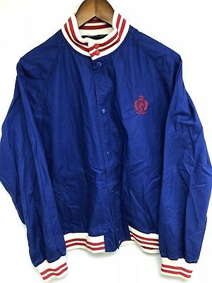 Vtg 80s 90s Polo Ralph Lauren University Crest Stadium CPRL Youth Coat Jacket XL