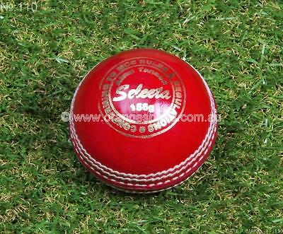 1 x RED Selecta 4pc 156g ALUM TANNED Cricket Balls by ORANGE SPORTS + AU STOCK