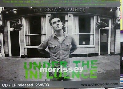 MORRISSEY Block Mounted PROMO POSTER Under the Influence 03 NM  The SMITHS