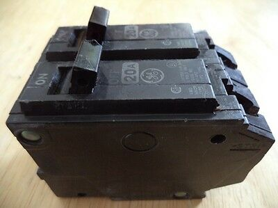 Lot 2 GE General Electric THQL1120 1 Pole 20 Amp Circuit Breaker TESTED THQL120