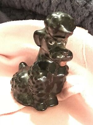 Vintage Goebel Black French Poodle Dog Figurine  Kt161 Porcelain Germany Animal