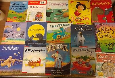 Lot of 15 Scholastic Classroom Teacher Reading Set Large Kids Books K-5 #U52 NR