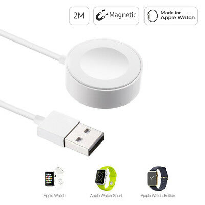 For 38mm & 42mm Apple Watch Edition iWatch Magnetic Charger Charging Cable 2m