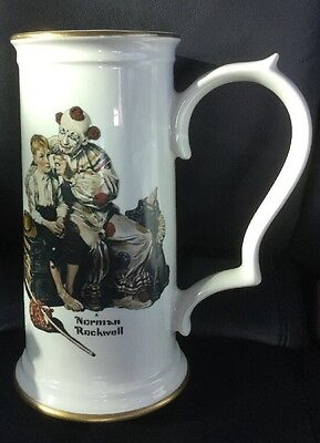 "Norman Rockwell's ""the Runaway"" Beer Stein By Gorham"