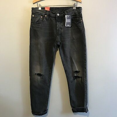 31a9a680254 NEW Levis 501 Size 27 X 32 Womens Donna Cropped Selvedge 501CT Denim Jeans  A15