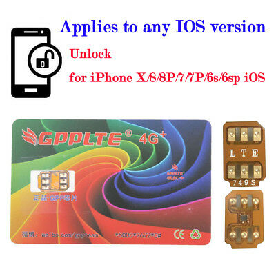 GPPLTE 4G+ Turbo SIM Card Unlock for iPhone X 8 7 6 6S Plus Unlocking LTE IOS 11