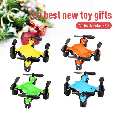 RC Drone 2.4 GHz GYRO System Multicolor LED Lights Headless Quadcopter Toys US