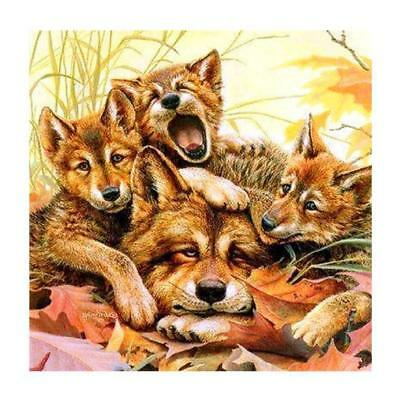 "Diamond Painting - Diamant Malerei - Stickerei - ""Fuchs-Familie"" (139)"