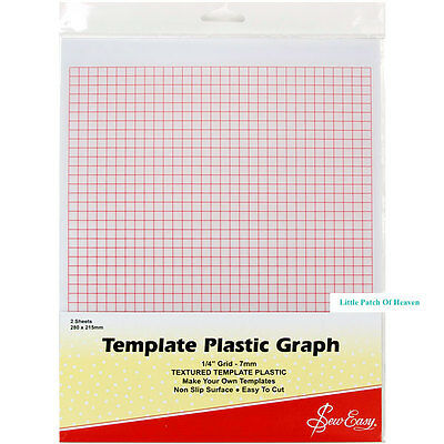 Sew Easy Template Plastic Graph Sheets A4 x 2 pieces / sewing / patchwork /craft