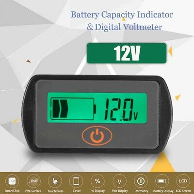 R 12V numerique batteries plomb-acide indicateur dacidite LED batterie capacite testeur volts batteries plomb-acide LED Capacite de batterie Testeur voltmetre Noir SODIAL