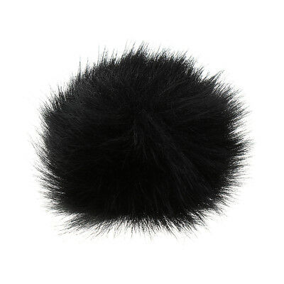 Black Fur Microphone Windscreen Windshield Muff Reduce Wind Noise Mic Cover