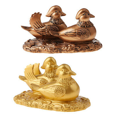 Lucky Chinese Wedding Gift Mandarin Duck Statues Home Ornaments Crafts