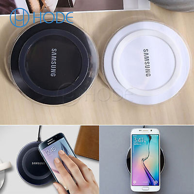 Qi Wireless Charger Charging base Pad for Samsung S6 S7 S8 S9 Plus UK