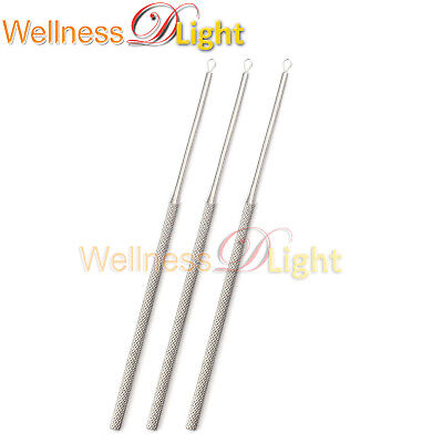 Wdl 3 pcs Billeau Ear Loop Flexible Ear Curette Surgical & Ear Instruments Steel