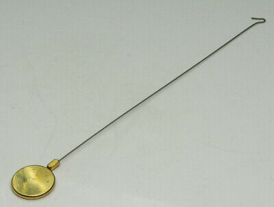 Brass silk pendulum bob & rod hook wall clocks suspension clock part french NEW