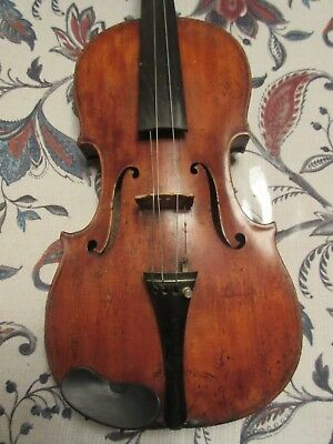 1775 Antique Large Violin Giuseppe Antonio Milan With Case Mother Pearl Bow
