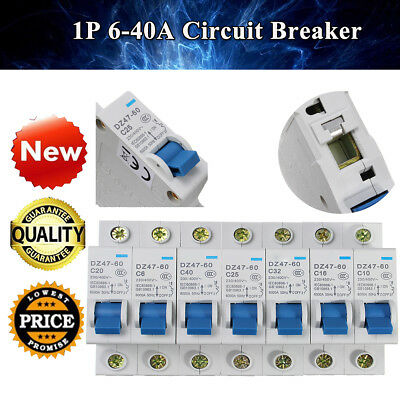6A~40A Electrical Miniature Residual Current Circuit-breaker AC400V 50Hz 1P Pole