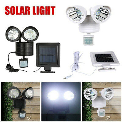 22 LED Security Detector Solar Spot Light Motion Sensor Outdoor Floodlight Lamp