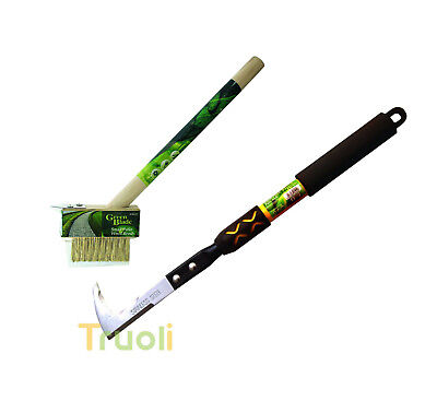 Garden Patio Weed Knife & Wire Brush Set Weeding Weeder Remover Tool Moss Paving