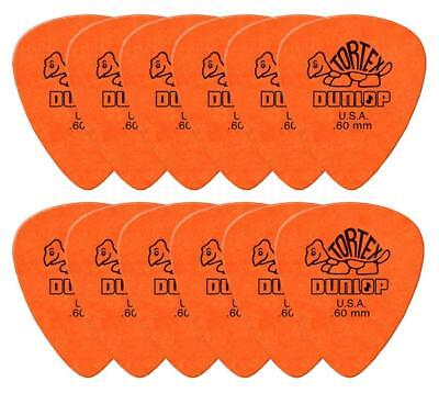 Starke Tortex Gitarre Plektren 0,60 mm in Standard Form im 12er Pack, Orange