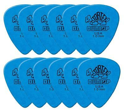Starke Tortex Gitarre Plektren 1,0 mm in Standard Form im 12er Pack, Blue
