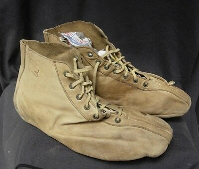 Early 1900s HYDE ATHLETIC SHOE All LEATHER LACE UP FLAT SOLES
