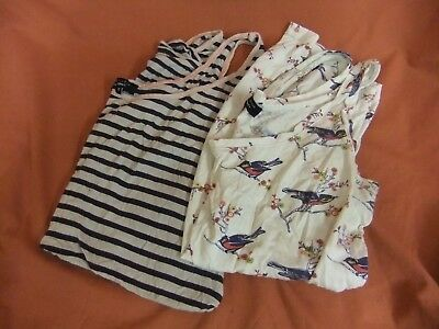 5) New Look Maternity vest x 2 cotton size UK 12 summer strappy cami bundle