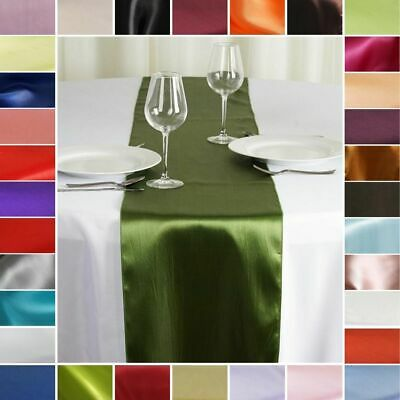 """20 pcs SATIN 12x108"""" Table RUNNERS Wedding Party Catering Decorations on Budget"""