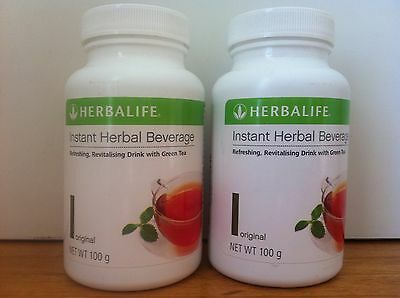 2 x HERBALIFE instant Herbal Beverage  Conc Tea 100g ORiG Exp 2019 Aussi Stock