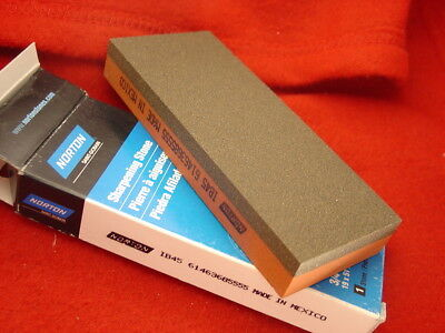 """Norton 5""""x2""""x3/4"""" double sided Sharpening stone new in box"""