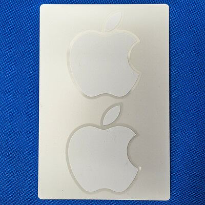 Genuine Apple Logo Sticker Stickers 2x Large White